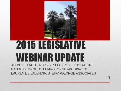 2015 Legislative Update
